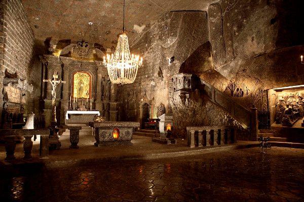 St. Kinga's Chapel in Wieliczka Salt Mine