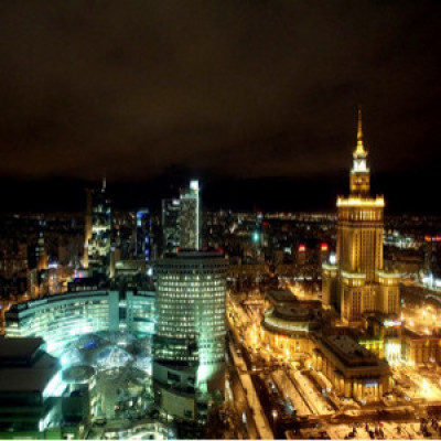 Warsaw night view