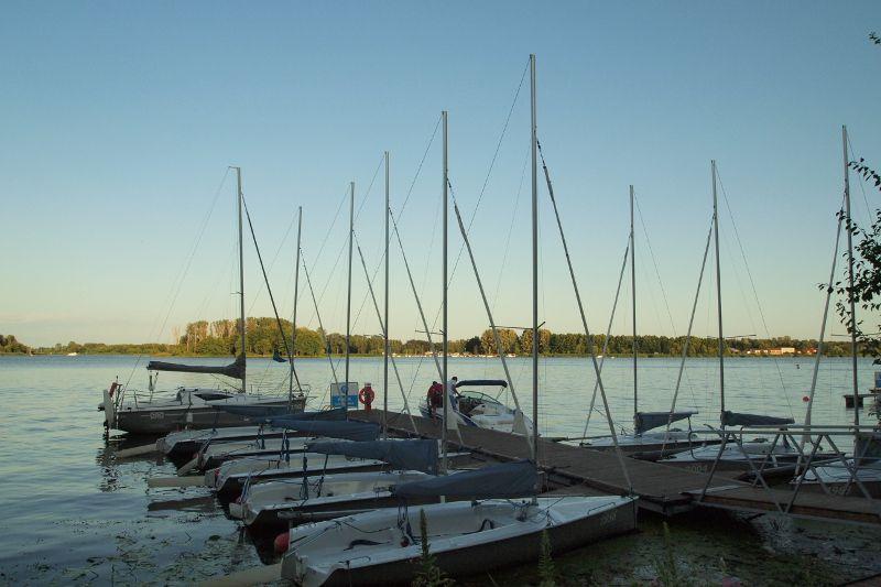 Sailing on Zegrze Lake near Warsaw