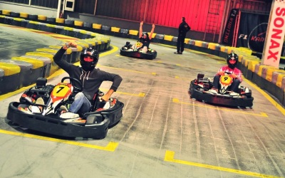 Go-kart racing in Warsaw